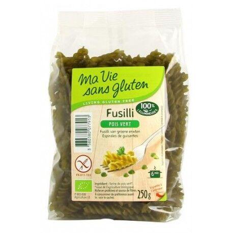 MA VIE SANS GLUTEN Fusilli aux pois vert Sans Gluten 250g - Ma Vie Sans Gluten