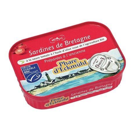 PHARE D'ECKMÜHL Sardines à la sauce tomate à l'huile d'olive bio - 135g - Phare...