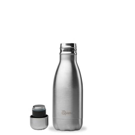 Relais Bio Bouteille Nomade Isotherme - Inox - 260ml - Qwetch