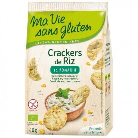 MA VIE SANS GLUTEN Crakers de Riz au Romarin - 40gr - Ma Vie Sans Gluten
