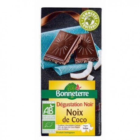 BONNETERRE Chocolat Noir Noix de Coco 85g -Bonneterre