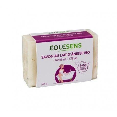 Relais Bio Savon au Lait d'Ânesse Bio Avoine/Olive - 100gr - Eolésens