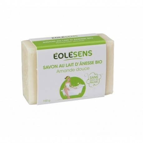 Relais Bio Savon au Lait d'Ânesse Bio Amande Douce - 100gr - Eolésens