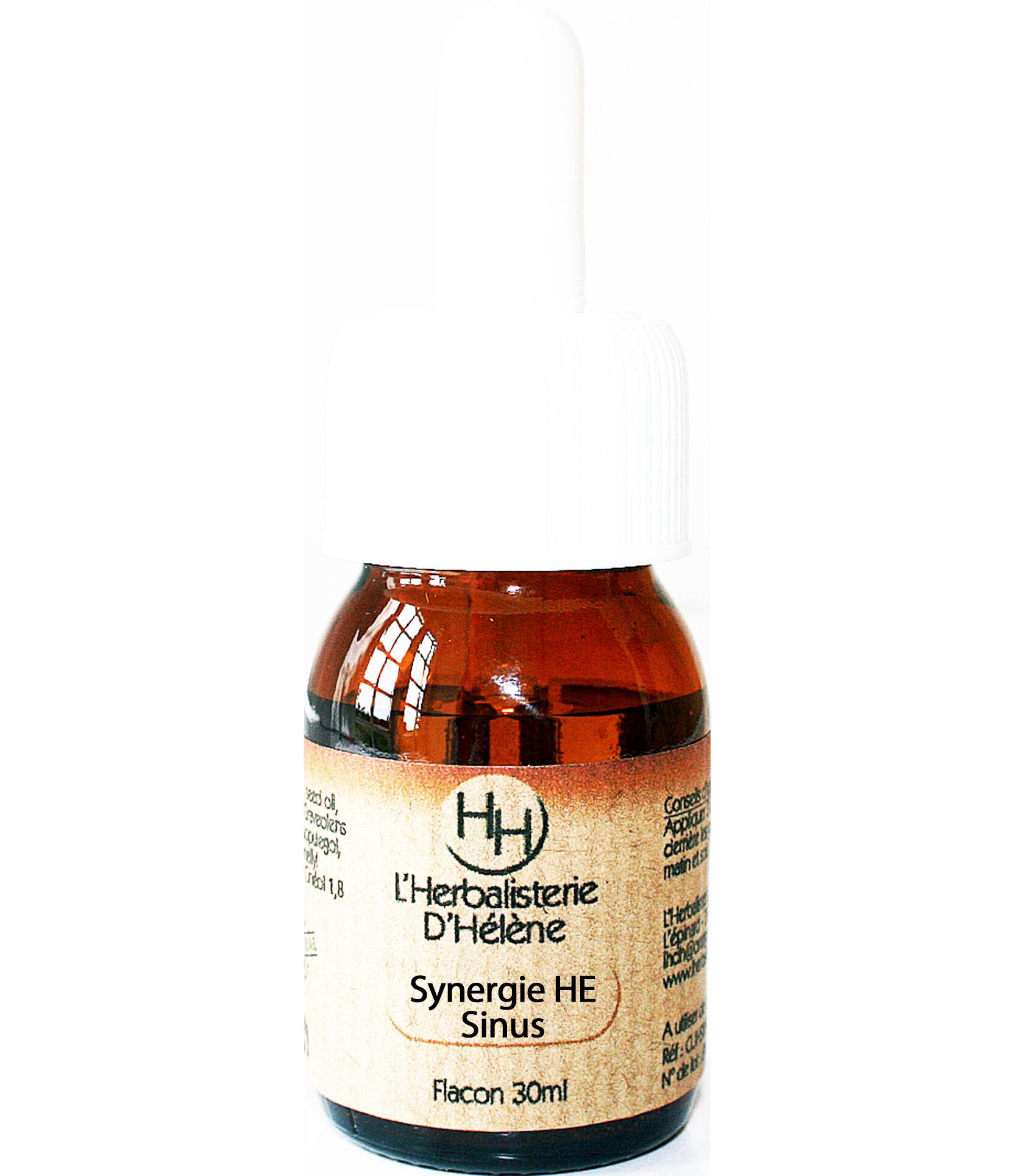 L'herbalisterie D'hélène Synergie HE Sinus, Mélange d'huiles essentielles, 30ml.