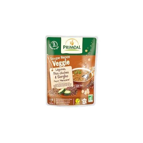 PRIMÉAL Soupe Repas Veggie Légumes Verts, Pois Cassés & Quinoa Real Bio...