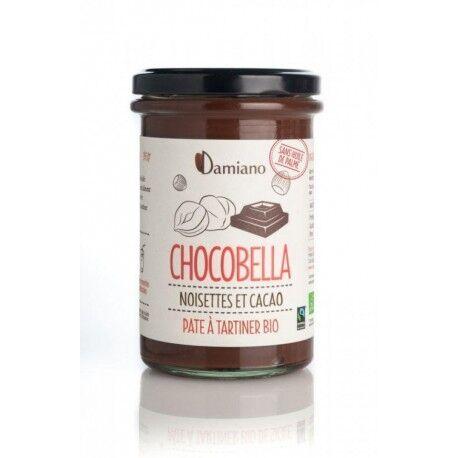 DAMIANO Chocobella Pâte à Tartiner Noisettes et Cacao Bio - 365g - Damiano