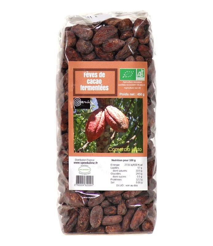 Speeduline Pj Natura Fèves de cacao Bio fermentées