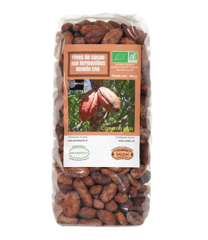 Speeduline Pj Natura Fèves de cacao Bio non fermentées 450 g