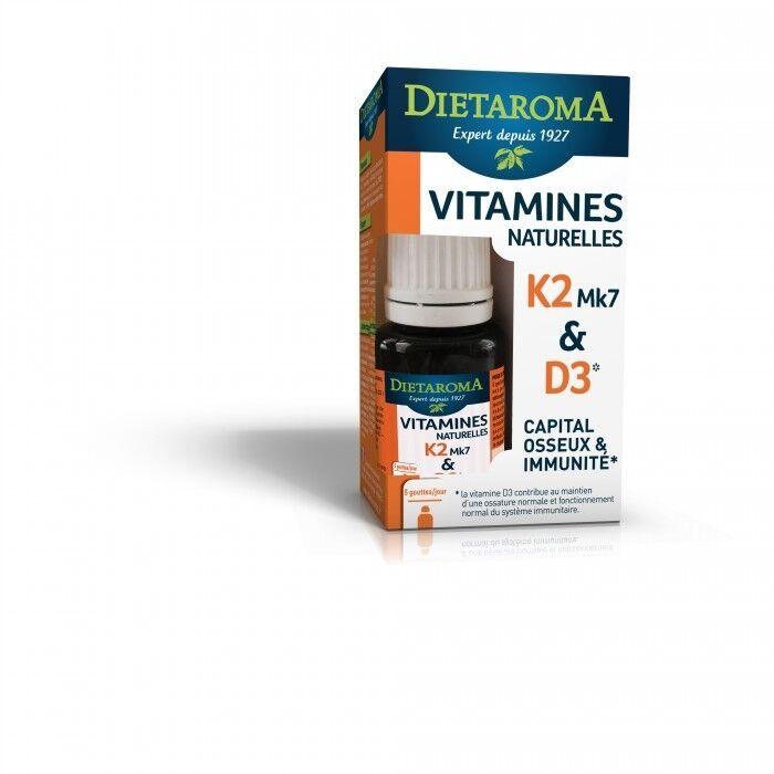 DIETAROMA Vitamines D3 K2 MK7