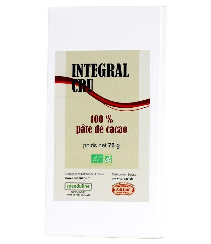 Speeduline Pj Natura Intégral cru Bio Pâte de cacao 100%