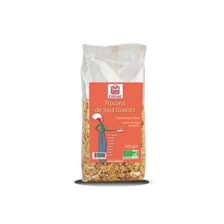 CELNAT Flocons de Soja toastés, Celnat, 500g