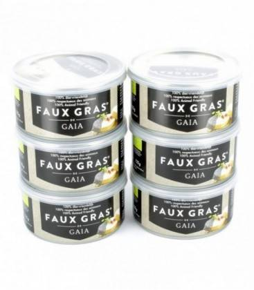 Nos Meilleures Courses GAIA Lot de 6 Faux Gras de Gaia bio et sans huiles de palme