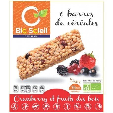 ECOCERT Barres de Céréales Cranberry et Fruits des Bois x6 - 125g -...