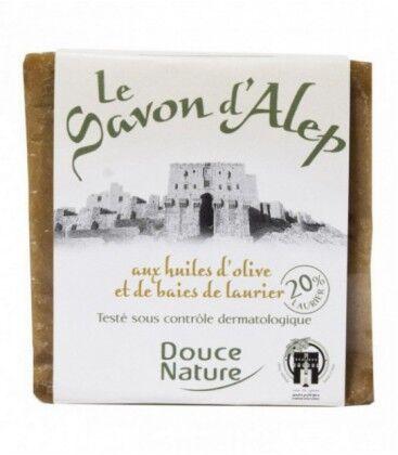 DOUCE NATURE Savon d'Alep en bloc bio - 200 g