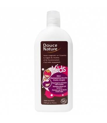 DOUCE NATURE Mon shampoing douche fruits rouges bio