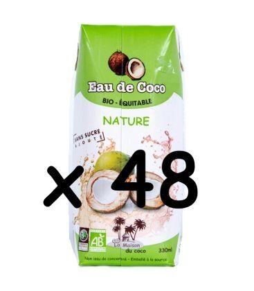 LA MAISON DU COCO Lot de 48 eaux de Coco nature bio & équitable