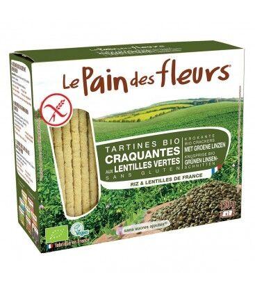 LE PAIN DES FLEURS Tartines craquantes aux lentilles vertes bio &...