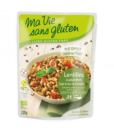 MA VIE SANS GLUTEN Lentilles cuisinées, soja et duo de céréales...