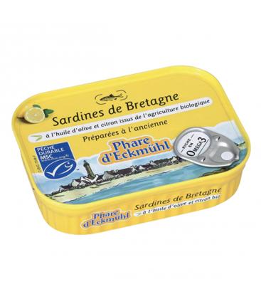 PHARE D'ECKMÜHL Sardines au citron et à l'huile d'olive vierge extra bio