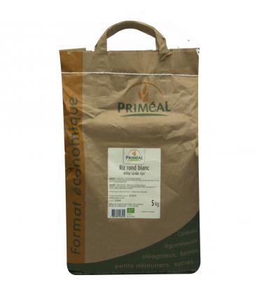 PRIMÉAL RHD - Riz rond blanc bio 5 kg