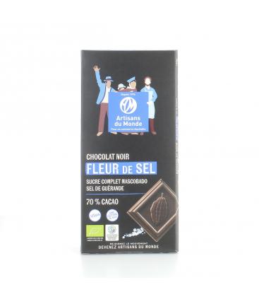 ARTISANS DU MONDE Chocolat noir bio & équitable à la fleur de sel