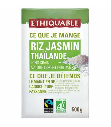 ETHIQUABLE Riz parfumé au jasmin de Thaïlande bio & équitable