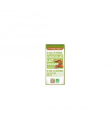 ETHIQUABLE Mini tablette chocolat lait amande bio & équitable