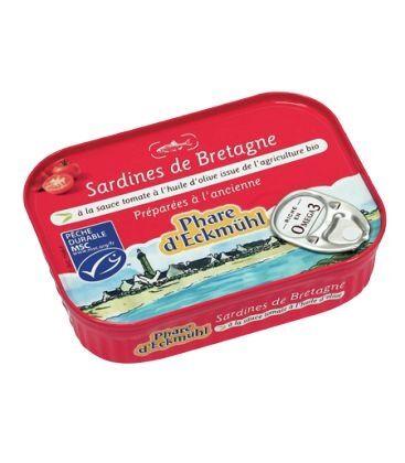 PHARE D'ECKMÜHL Sardines à la sauce tomate et à l'huile d'olive bio