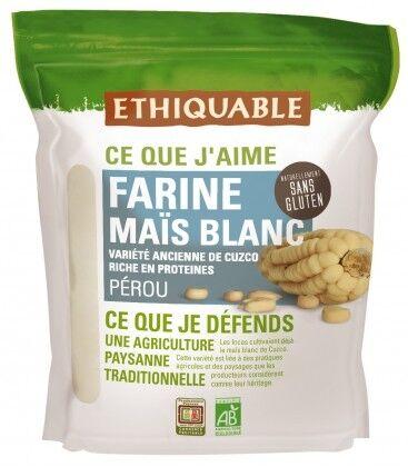 ETHIQUABLE Farine de maïs blanc bio & équitable - natrellement...
