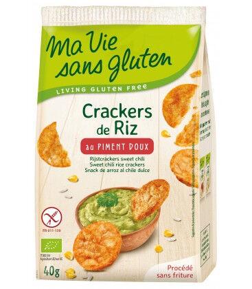 MA VIE SANS GLUTEN Crackers de Riz au Piment Doux bio & sans gluten