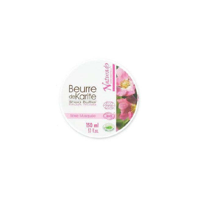 BIO FOR MEN NATURADO - Beurre de Karité Bio à la Rose Musquée 150ml