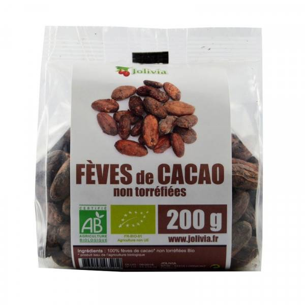 ECOCERT Fèves de Cacao crues Bio non torréfiées