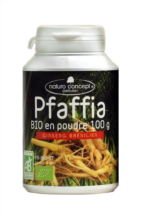 Naturo Concept Pfaffia bio (ginseng brésilien) - poudre - 100g