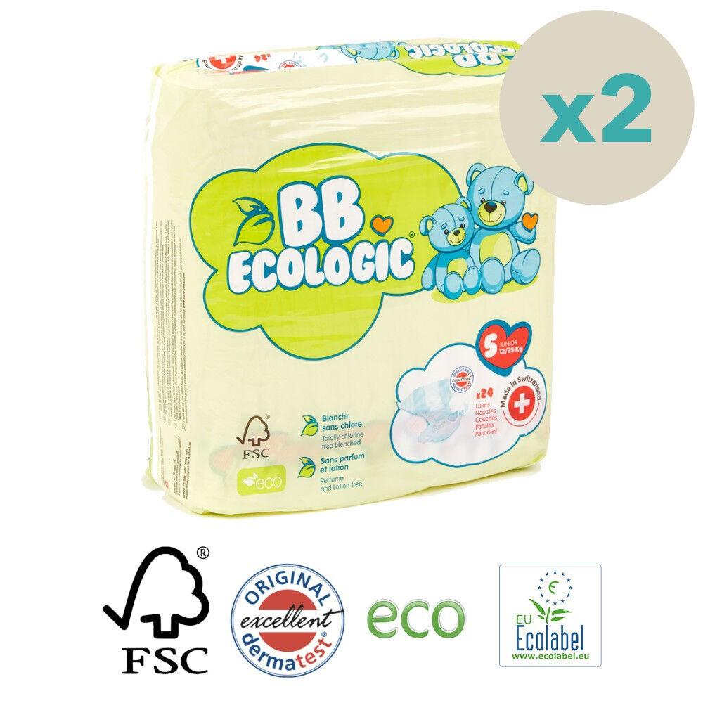 Popi-shop BB ECOLOGIC couches écologiques t5 junior (12-25kg) - pack 2...