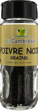 Les Délices De Sarah Poivre noir grains flacon 40g--bio cambrésis