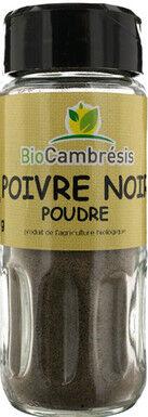 Les Délices De Sarah Poivre noir poudre flacon 40g--bio cambrésis