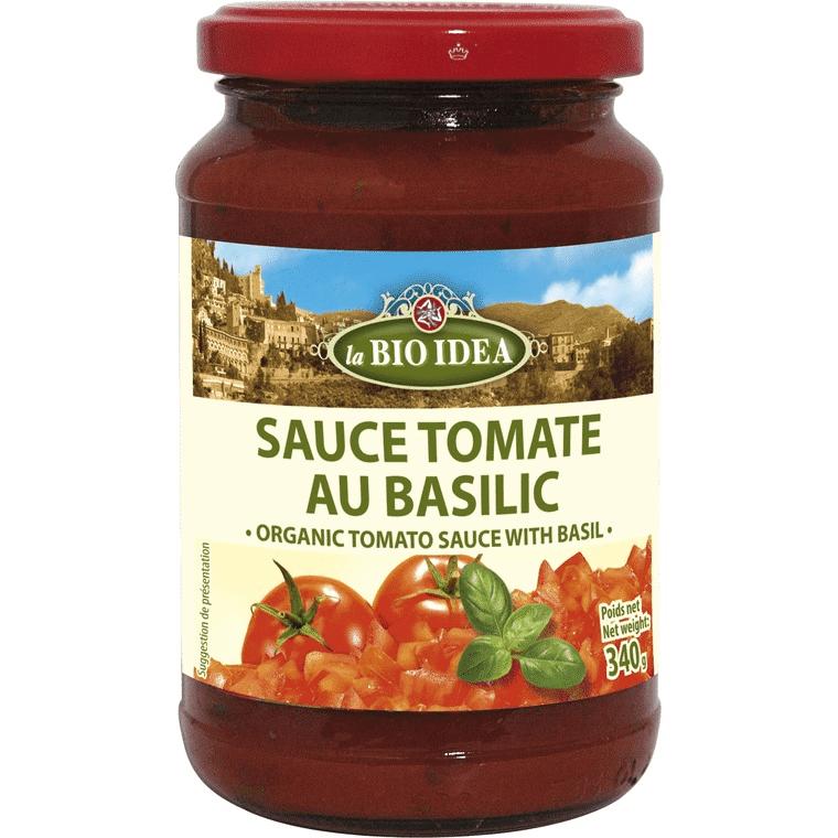 Les Délices De Sarah Sauce tomate au basilic 340g--la bio idea