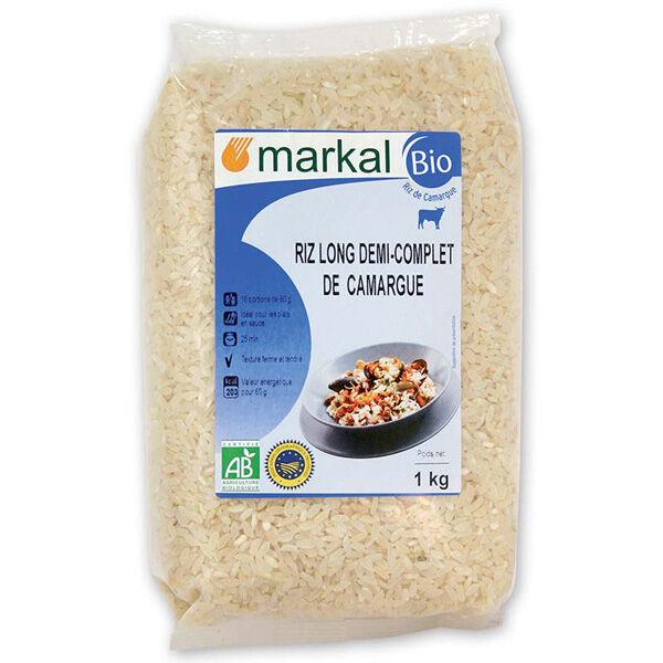 MARKAL Riz long 1/2 complet de camargue 1kg MARKAL
