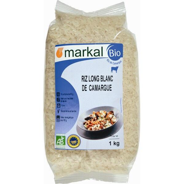 MARKAL Riz long blanc de camargue 1kg MARKAL