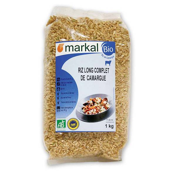 MARKAL Riz long complet de camargue 1kg MARKAL