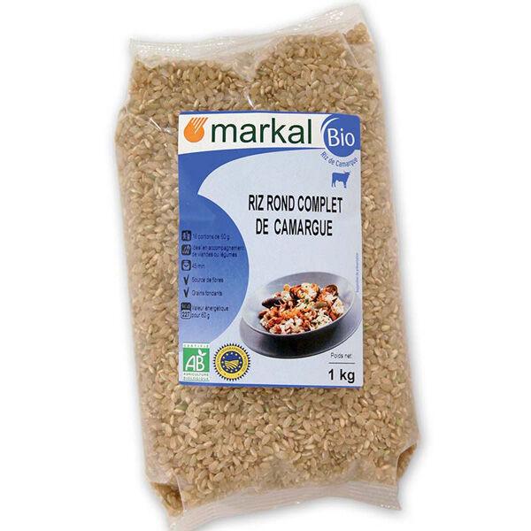 MARKAL Riz rond complet de camargue 1kg MARKAL