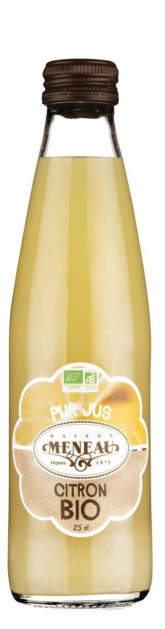 EQUITABLE Pur jus de fruits bio citron 25cl MAISON MENEAU