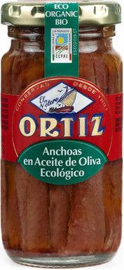 Les Délices De Sarah Filets d'anchois a l' huile d'olive bio bocal verre 95g ORTIZ