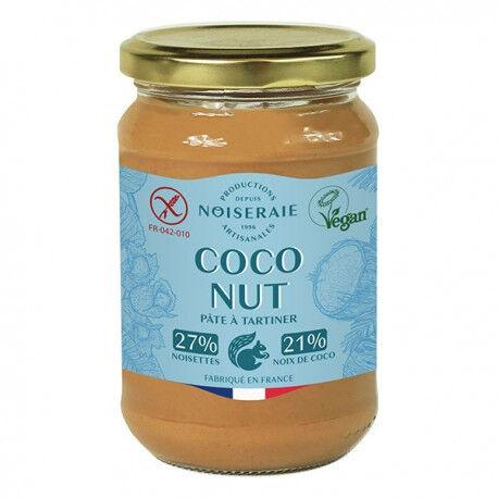 PERL'AMANDE Pâte a tartiner coconut noisette poudre coco 300g--perl'amande