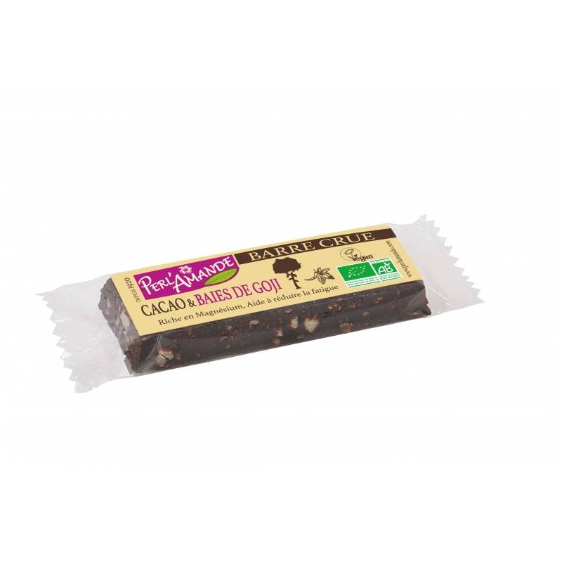 PERL'AMANDE Barre céréales cacao&baies; de goji 40g--perl'amande