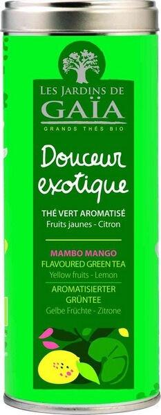 JARDINS DE GAÏA Thé Vert Douceur Exotique aux Fruits Jaunes & au Citron Bio 100g...