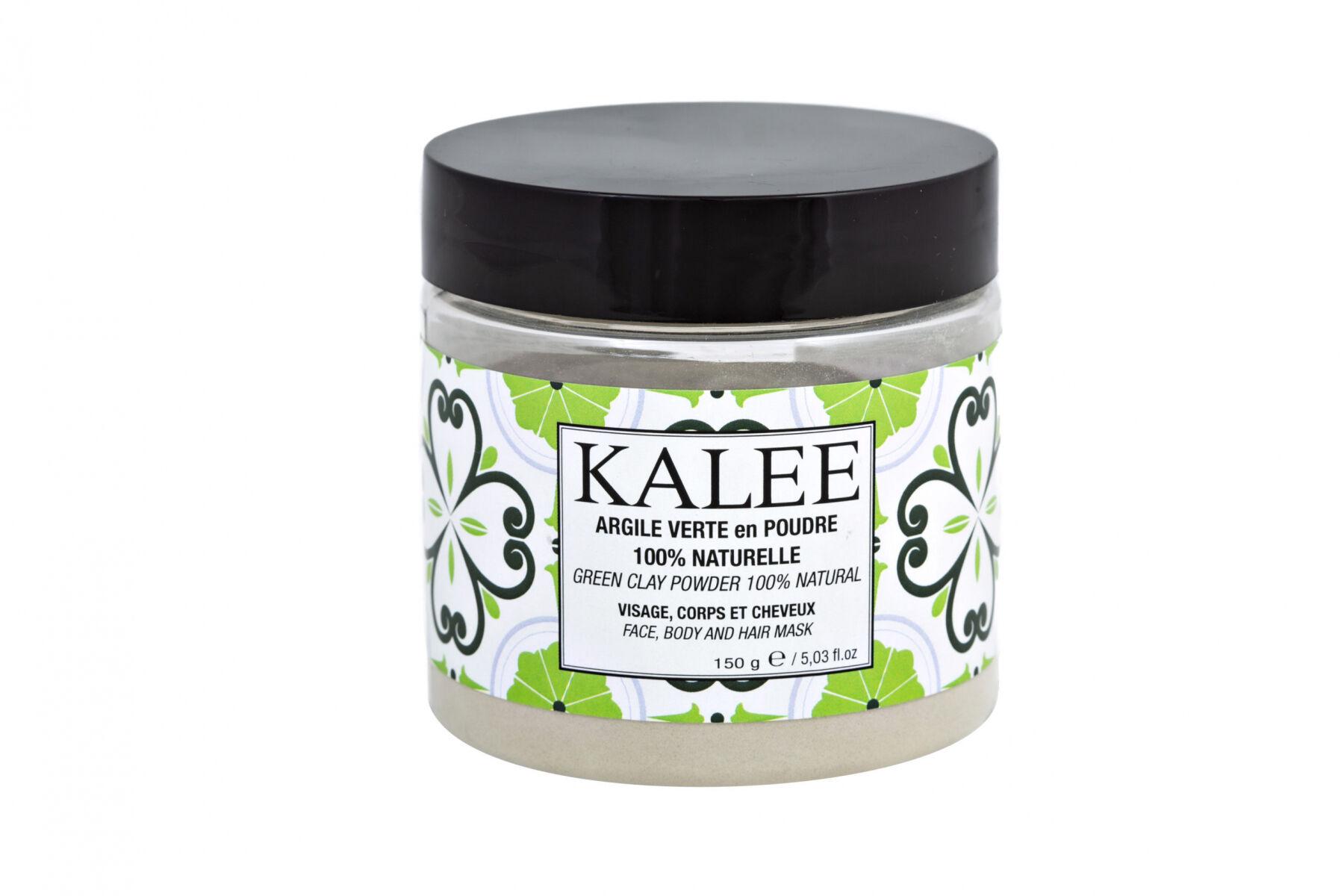Kalee Beauty Argile verte en poudre 100% naturelle