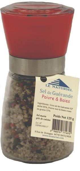 Sana Vita Moulin à gros sel séché aux poivres et baies, 125 g