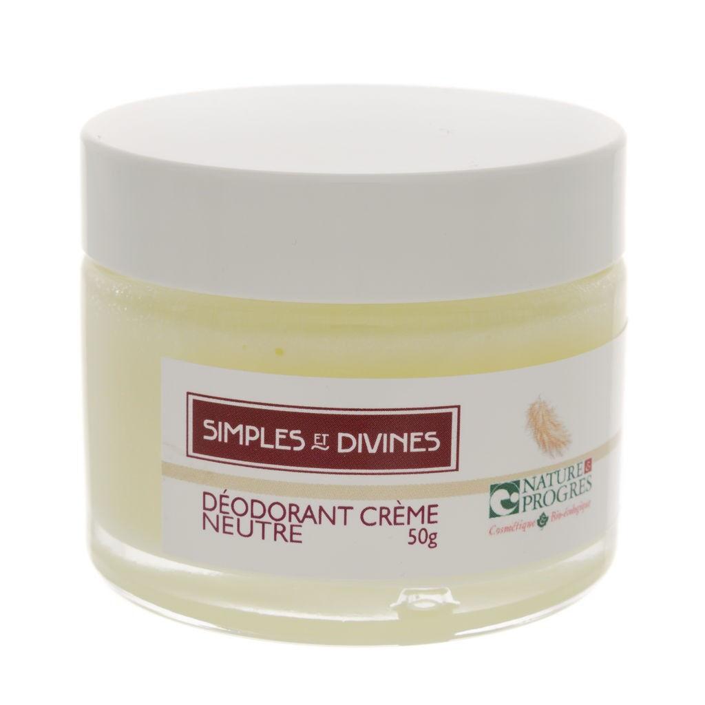 Les Simples Et Divines Déo crème Neutre, 50g