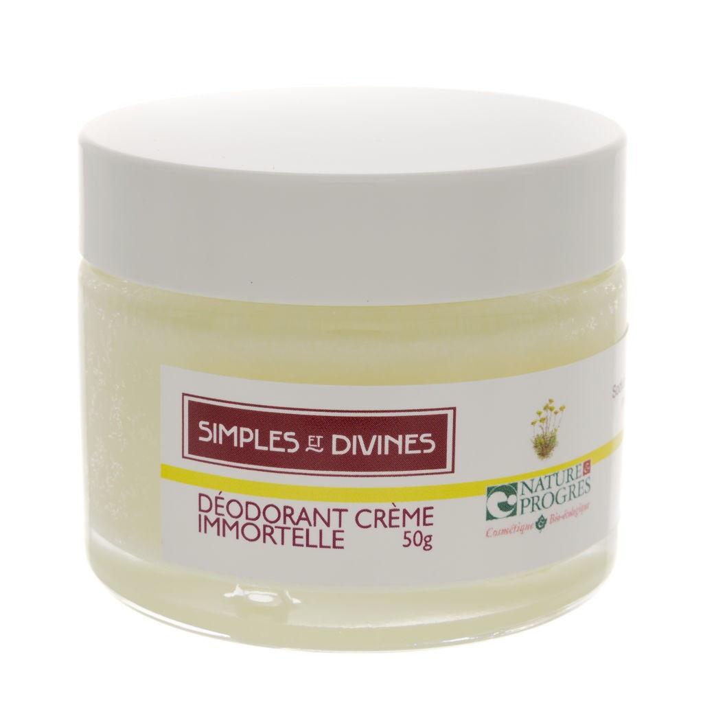 Les Simples Et Divines Déo crème Immortelle, 50g